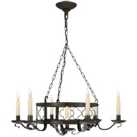 Visual Comfort SK5102AI Suzanne Kasler Margarite 7 Light 26 inch Aged Iron with Wax Chandelier Ceiling Light