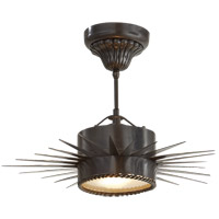 Visual Comfort Suzanne Kasler Soleil 1 Light Flush Mount in Bronze with Wax SK5200BZ