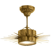 Visual Comfort Suzanne Kasler Soleil 1 Light Flush Mount in Hand-Rubbed Antique Brass SK5200HAB
