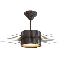 Visual Comfort Suzanne Kasler Soleil 1 Light Flush Mount in Bronze SK5201BZ