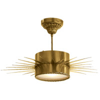Visual Comfort Suzanne Kasler Soleil 1 Light Flush Mount in Hand-Rubbed Antique Brass SK5201HAB