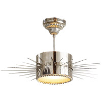 Visual Comfort Suzanne Kasler Soleil 1 Light Flush Mount in Polished Nickel SK5201PN