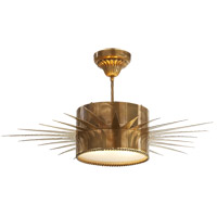 Visual Comfort Suzanne Kasler Soleil 2 Light Flush Mount in Hand-Rubbed Antique Brass SK5202HAB