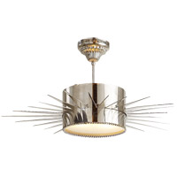 Visual Comfort Suzanne Kasler Soleil 2 Light Flush Mount in Polished Nickel SK5202PN