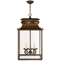 Visual Comfort Suzanne Kasler Honore 3 Light Foyer Pendant in Antique Zinc SK5300AZ