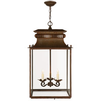 Visual Comfort Suzanne Kasler Honore 3 Light Ceiling Lantern in Antique Zinc SK5301AZ