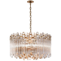 Suzanne Kasler Adele 4 Light 28 inch Hand-Rubbed Antique Brass with Clear Acrylic Chandelier Ceiling Light