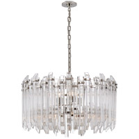Visual Comfort SK5421PN-CA Suzanne Kasler Adele 4 Light 28 inch Polished Nickel with Clear Acrylic Chandelier Ceiling Light
