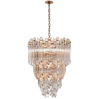Suzanne Kasler Adele 12 Light 24 inch Hand-Rubbed Antique Brass with Clear Acrylic Chandelier Ceiling Light