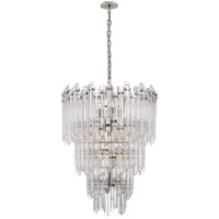 Visual Comfort SK5423PN-CA Suzanne Kasler Adele 12 Light 24 inch Polished Nickel with Clear Acrylic Chandelier Ceiling Light