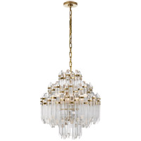 Suzanne Kasler Adele 6 Light 20 inch Hand-Rubbed Antique Brass Chandelier Ceiling Light, Suzanne Kasler, Four-Tier, Waterfall, Clear Acrylic Shade
