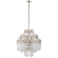 Suzanne Kasler Adele 6 Light 20 inch Polished Nickel Chandelier Ceiling Light, Suzanne Kasler, Four-Tier, Waterfall, Clear Acrylic Shade