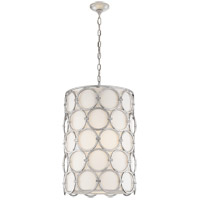 Visual Comfort SK5538BSL-L Suzanne Kasler Alexandra 2 Light 19 inch Burnished Silver Leaf Pendant Ceiling Light, Suzanne Kasler, Narrow, Linen Shade