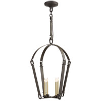 Visual Comfort SK5540AI Suzanne Kasler Elise 4 Light 21 inch Aged Iron Foyer Lantern Ceiling Light, Suzanne Kasler, Medium