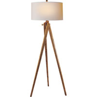 E.F. Chapman Tripod 61 inch 100 watt French Wax on Wood Decorative Floor Lamp Portable Light