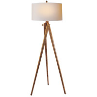 E. F. Chapman Tripod 61 inch 150 watt French Wax on Wood Decorative Floor Lamp Portable Light