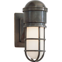 Visual Comfort E.F. Chapman Marine 1 Light Bath Wall Light in Bronze with Wax SL2000BZ-WG