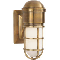 Visual Comfort E.F. Chapman Marine 1 Light Bath Wall Light in Hand-Rubbed Antique Brass SL2000HAB-WG
