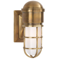 Visual Comfort SL2000HAB-WG E. F. Chapman Marine 1 Light 5 inch Hand-Rubbed Antique Brass Bath Wall Light