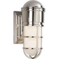 Visual Comfort E.F. Chapman Marine 1 Light Bath Wall Light in Polished Nickel SL2000PN-WG