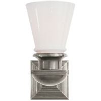 Visual Comfort SL2151AN-WG E. F. Chapman New York Subway 1 Light 5 inch Antique Nickel Bath Wall Light
