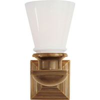 Visual Comfort E.F. Chapman New York Subway 1 Light Bath Wall Light in Hand-Rubbed Antique Brass SL2151HAB-WG