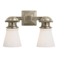 Visual Comfort E.F. Chapman New York Subway 2 Light Bath Wall Light in Antique Nickel SL2152AN-WG