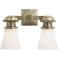 E. F. Chapman New York Subway 2 Light 14 inch Antique Nickel Bath Wall Light