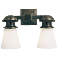 Visual Comfort SL2152BZ-WG E. F. Chapman New York Subway 2 Light 14 inch Bronze Bath Wall Light