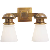 Visual Comfort SL2152HAB-WG E. F. Chapman New York Subway 2 Light 14 inch Hand-Rubbed Antique Brass Bath Wall Light