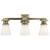 Visual Comfort SL2153AN-WG E. F. Chapman New York Subway 3 Light 23 inch Antique Nickel Bath Wall Light