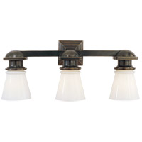 Visual Comfort SL2153BZ-WG E. F. Chapman New York Subway 3 Light 23 inch Bronze Bath Wall Light