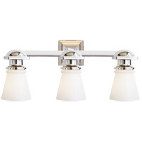 E. F. Chapman New York Subway 3 Light 23 inch Polished Nickel Bath Wall Light