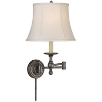 E. F. Chapman Classic 19 inch 100 watt Bronze Swing-Arm Wall Light