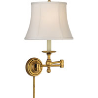 Visual Comfort E.F. Chapman Classic 1 Light Swing-Arm Wall Light in Hand-Rubbed Antique Brass SL2800HAB-S