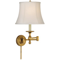 E. F. Chapman Classic 19 inch 100 watt Hand-Rubbed Antique Brass Swing-Arm Wall Light