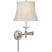 E. F. Chapman Classic 100 watt Polished Nickel Swing-Arm Wall Light