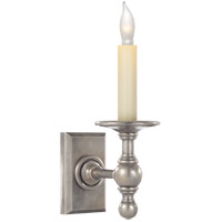 Visual Comfort E.F. Chapman Classic 1 Light Decorative Wall Light in Antique Nickel SL2813AN