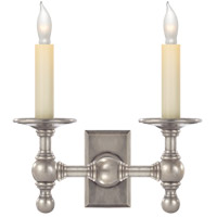 Visual Comfort E.F. Chapman 2 Light Decorative Wall Light in Antique Nickel SL2814AN
