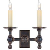 Visual Comfort E.F. Chapman 2 Light Decorative Wall Light in Bronze with Wax SL2814BZ