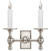 Visual Comfort E.F. Chapman 2 Light Decorative Wall Light in Polished Nickel SL2814PN