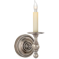 Visual Comfort E.F. Chapman Classic 1 Light Decorative Wall Light in Antique Nickel (Shade Sold Separately) SL2815AN