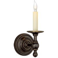 Visual Comfort E.F. Chapman Classic 1 Light Decorative Wall Light in Bronze with Wax (Shade Sold Separately) SL2815BZ