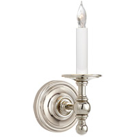 Visual Comfort E.F. Chapman Classic 1 Light Decorative Wall Light in Polished Nickel (Shade Sold Separately) SL2815PN
