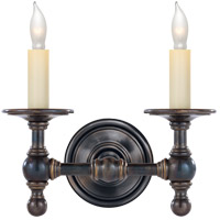 Visual Comfort E.F. Chapman Classic 2 Light Decorative Wall Light in Bronze with Wax SL2816BZ