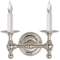 Visual Comfort E.F. Chapman Classic 2 Light Decorative Wall Light in Polished Nickel SL2816PN