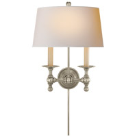 Visual Comfort SL2817AN-NP E. F. Chapman Classic 2 Light 13 inch Antique Nickel Decorative Wall Light