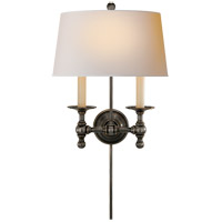 Visual Comfort E. F. Chapman Classic 2 Light 13 inch Bronze Decorative Wall Light SL2817BZ-NP - Open Box
