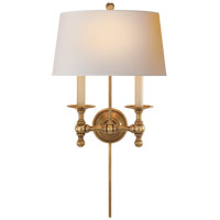 Visual Comfort SL2817HAB-NP E. F. Chapman Classic 2 Light 13 inch Hand-Rubbed Antique Brass Decorative Wall Light