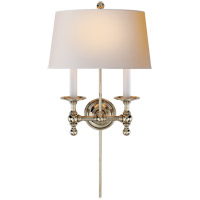 Visual Comfort SL2817PN-NP E. F. Chapman Classic 2 Light 13 inch Polished Nickel Decorative Wall Light